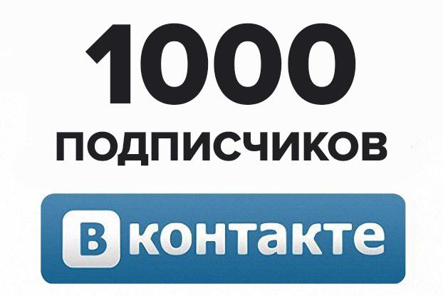 Первая 1000 подписчиков при раскрутке группы в вк по шагам самостоятельно бесплатно