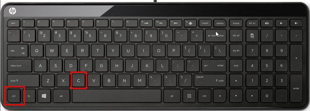 Комбинация клавиш для сохранения