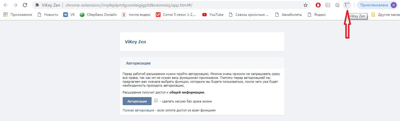 Настройка приложения VikeyZen